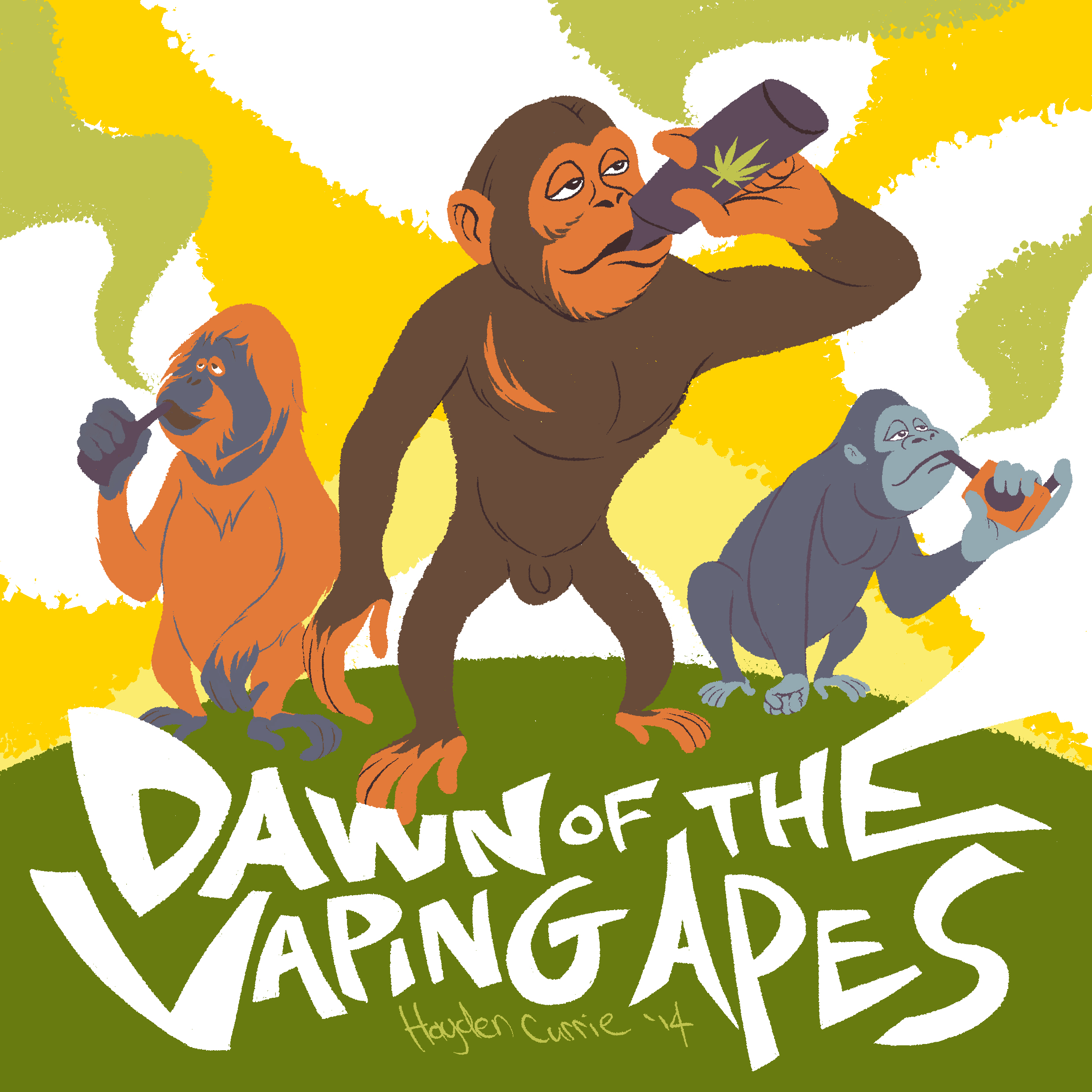 Dawn Of The Vaping Apes