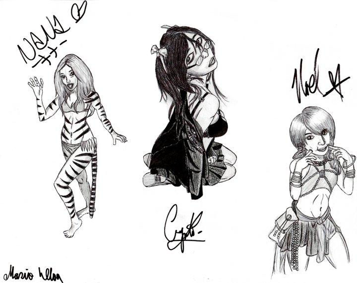Models autographed
