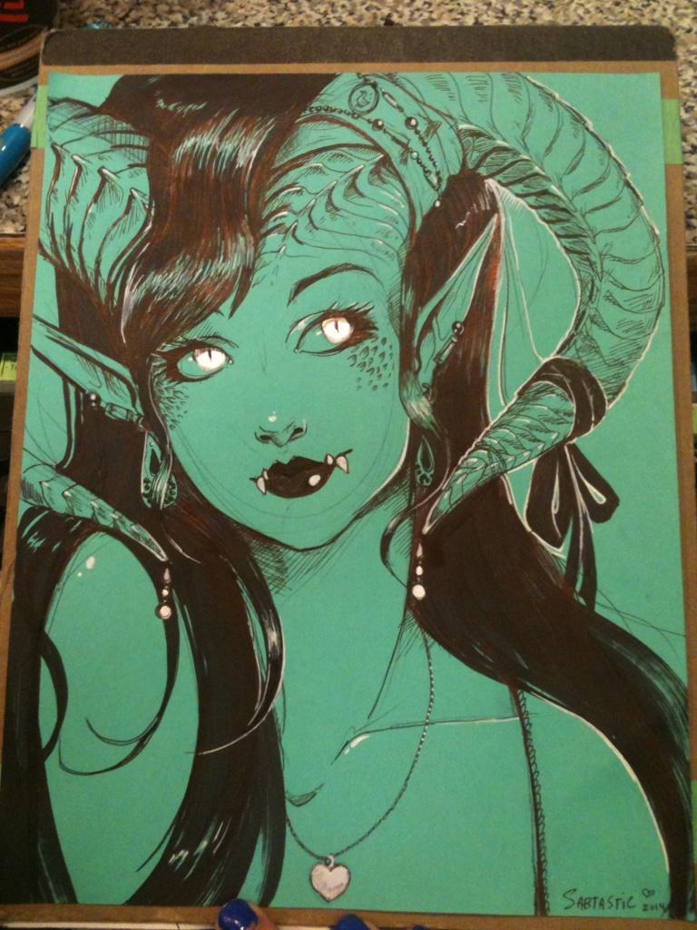 Ballpoint Pen Monster Girl