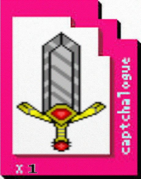 Captchlogg Card With Dagger
