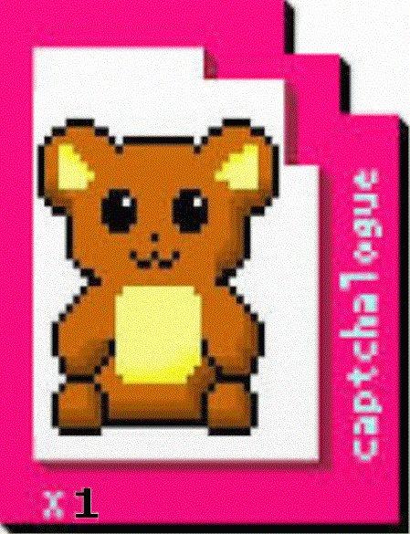 Captchlog Card With Bear