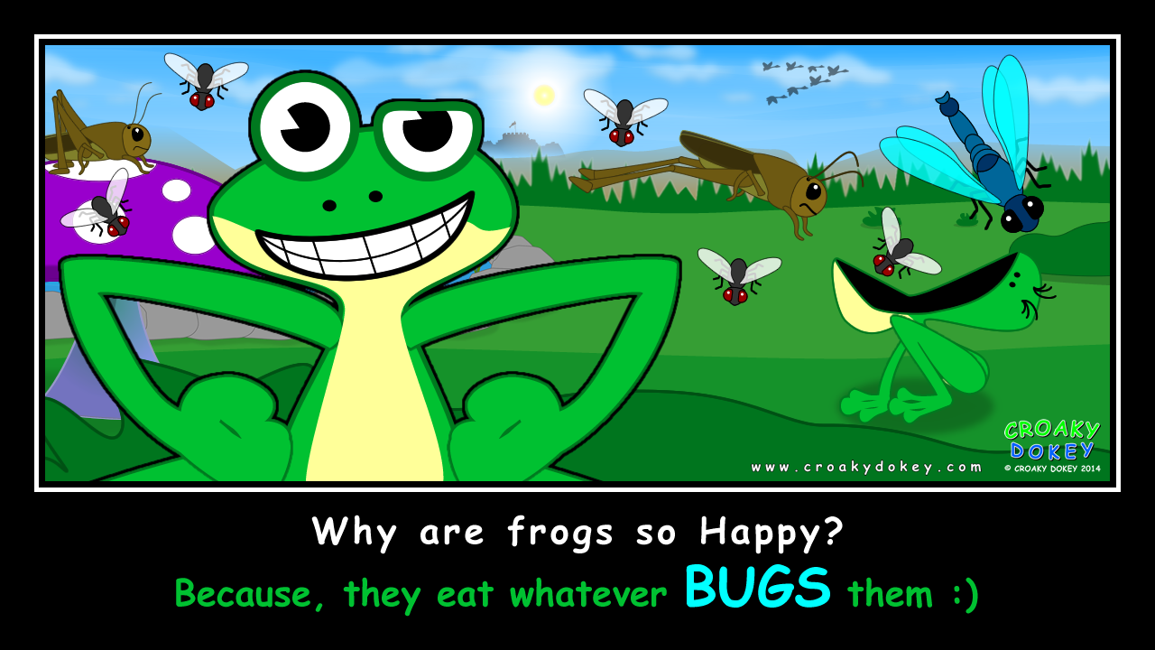 Why are frogs so Happy?
