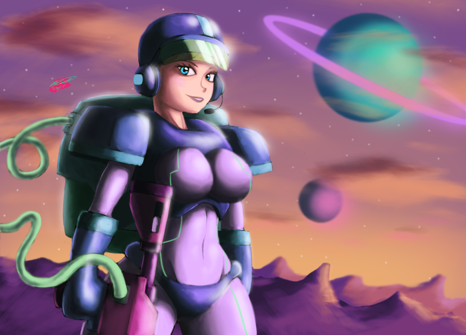 Colonial Space Soldier Girl
