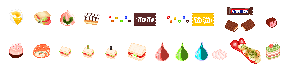 some of my pixel food part 1