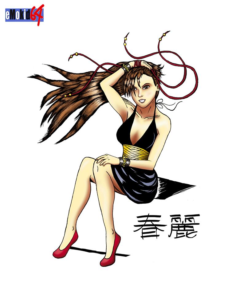 Chun Li Dress outfit colored
