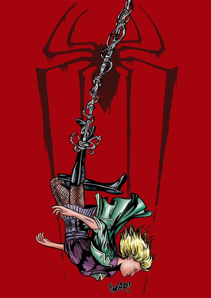Death Gwen Stacy Colored