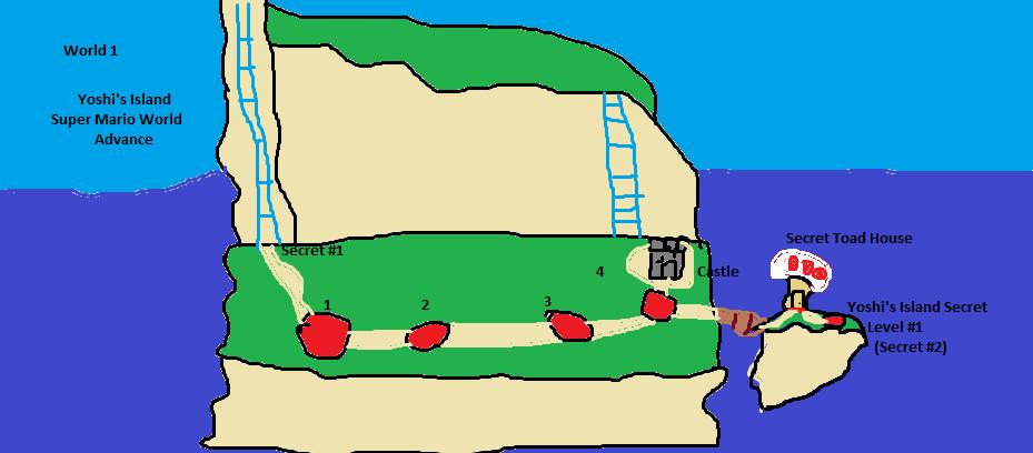 SuperMarioWorldAdvance Map 1