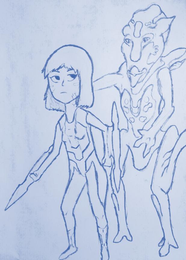 Cyborg Girl Vs. Mutant