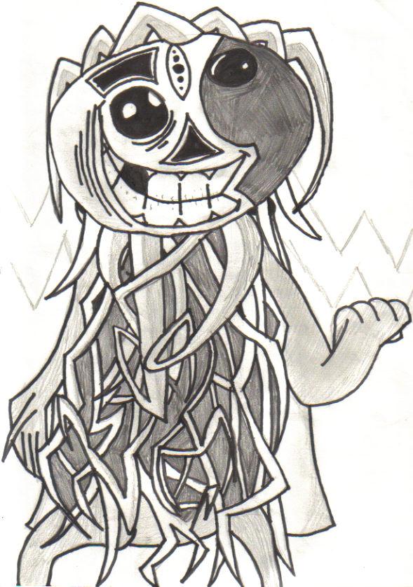 The pumpkin scarecrow