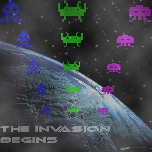 the invasion begins
