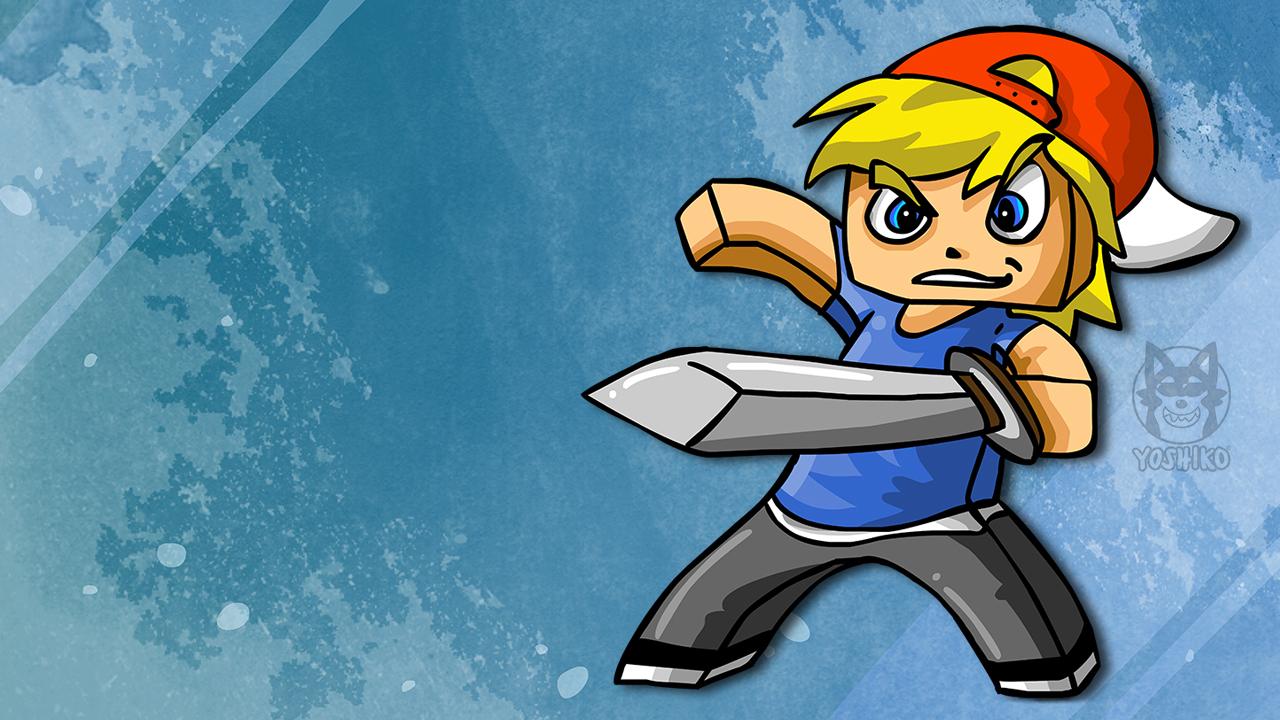 Minecraft Sword-Fighter Fanart