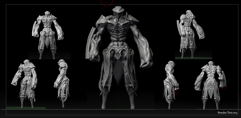 World Embryo Monster 3D model