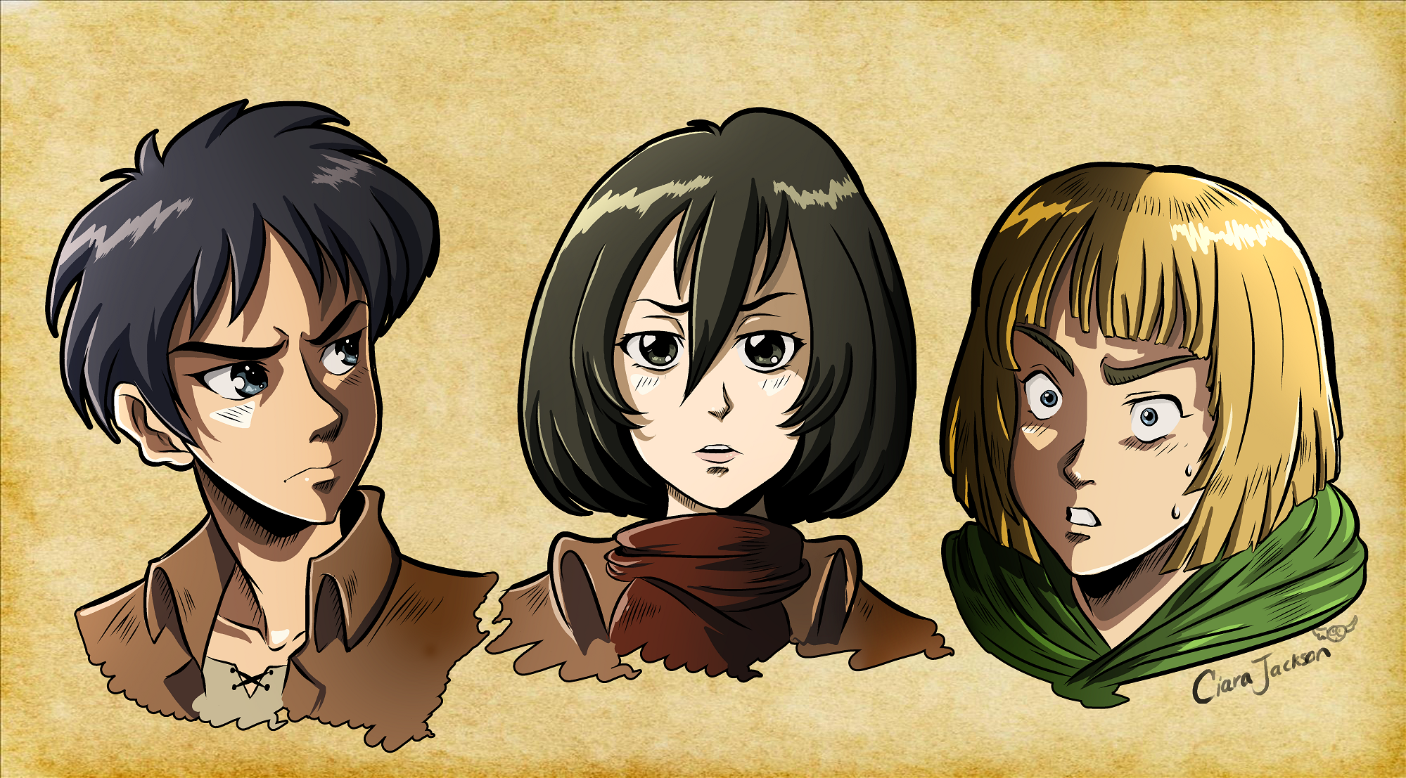 Colored 90s Attack on Titan!