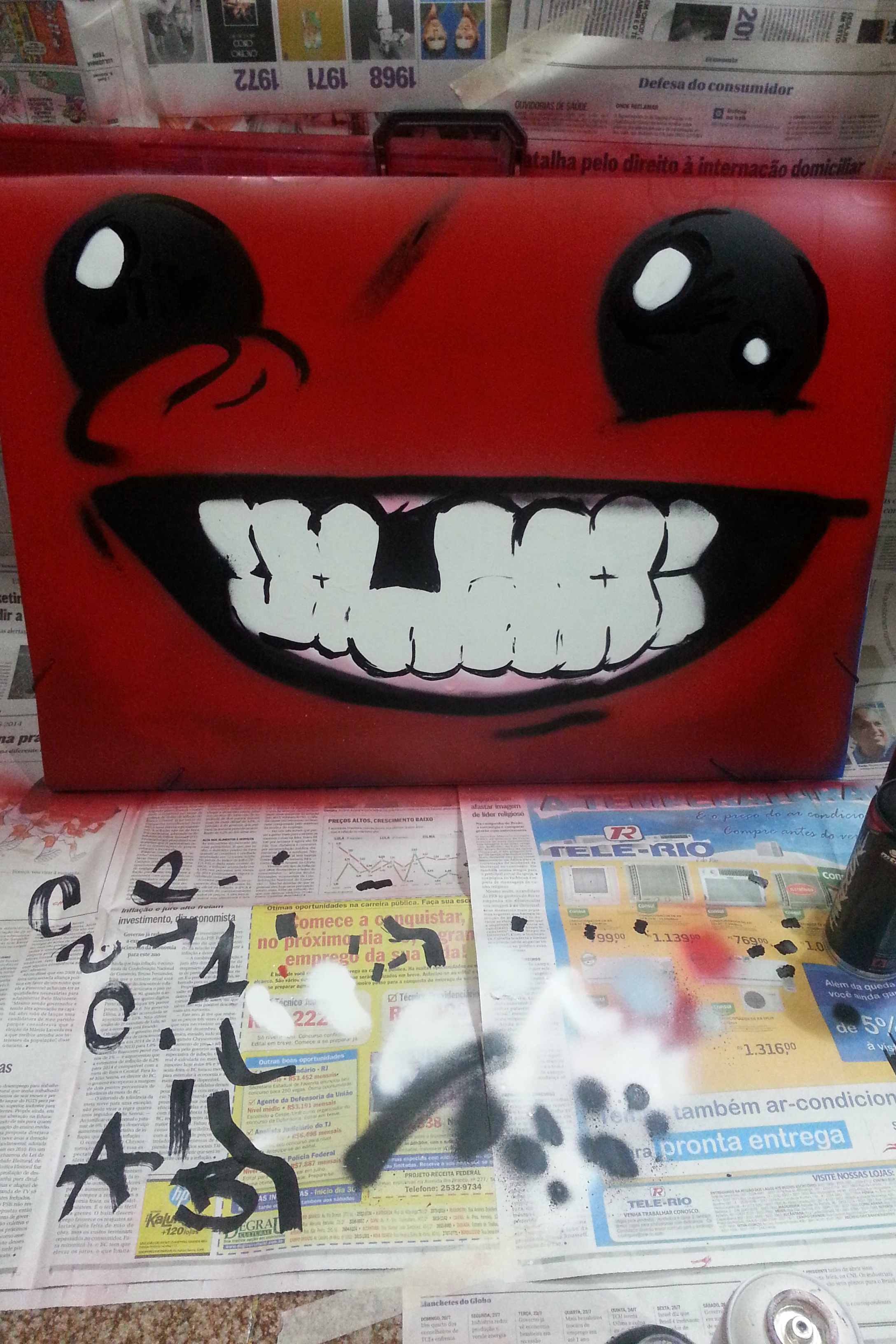 Super Meat Boy Painting