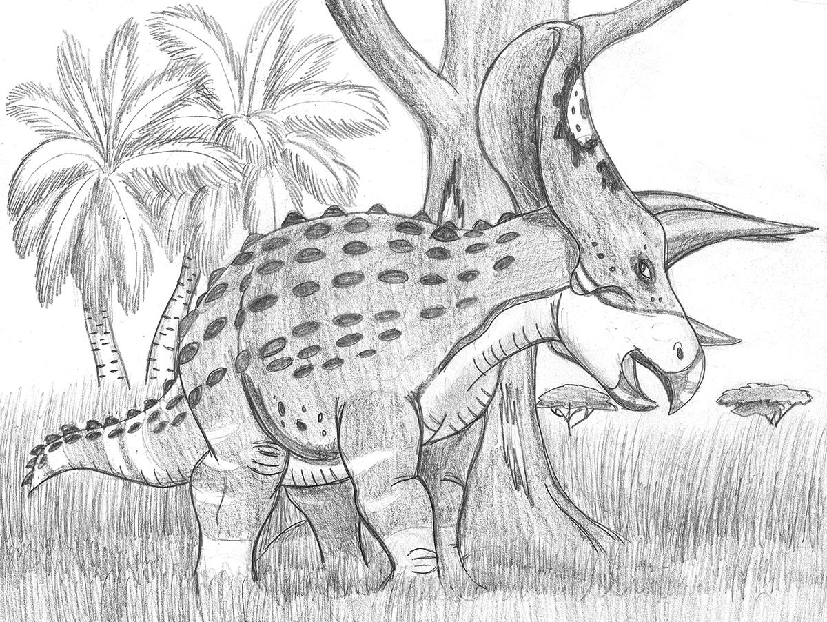 Torosaurus Needs to Scratch
