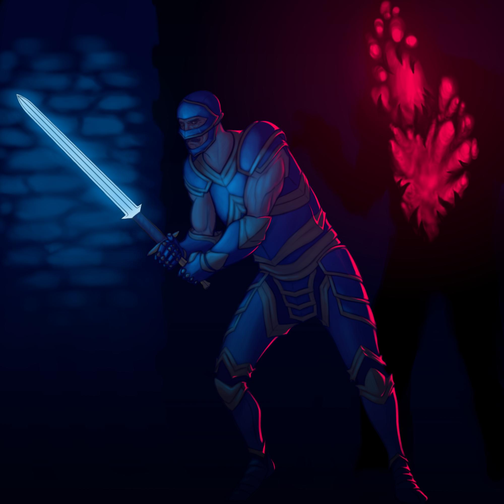 Blue Armored Adventurer