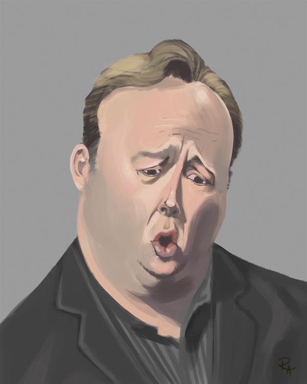 Alex Jones Caricature