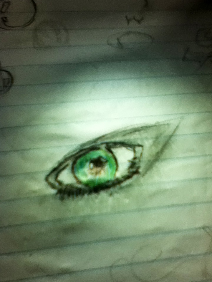 Drawing eyes is great