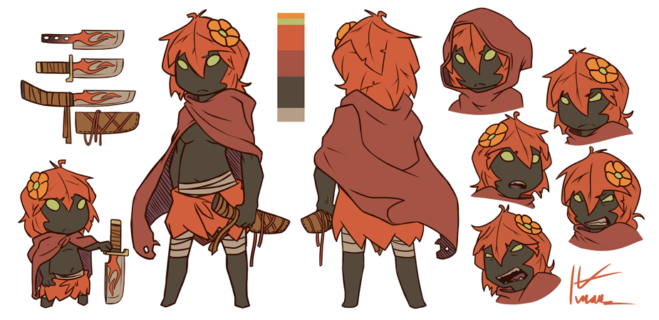 autumn plant girl