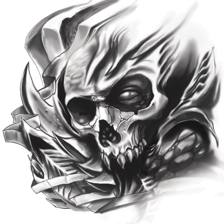 Biomech Skull