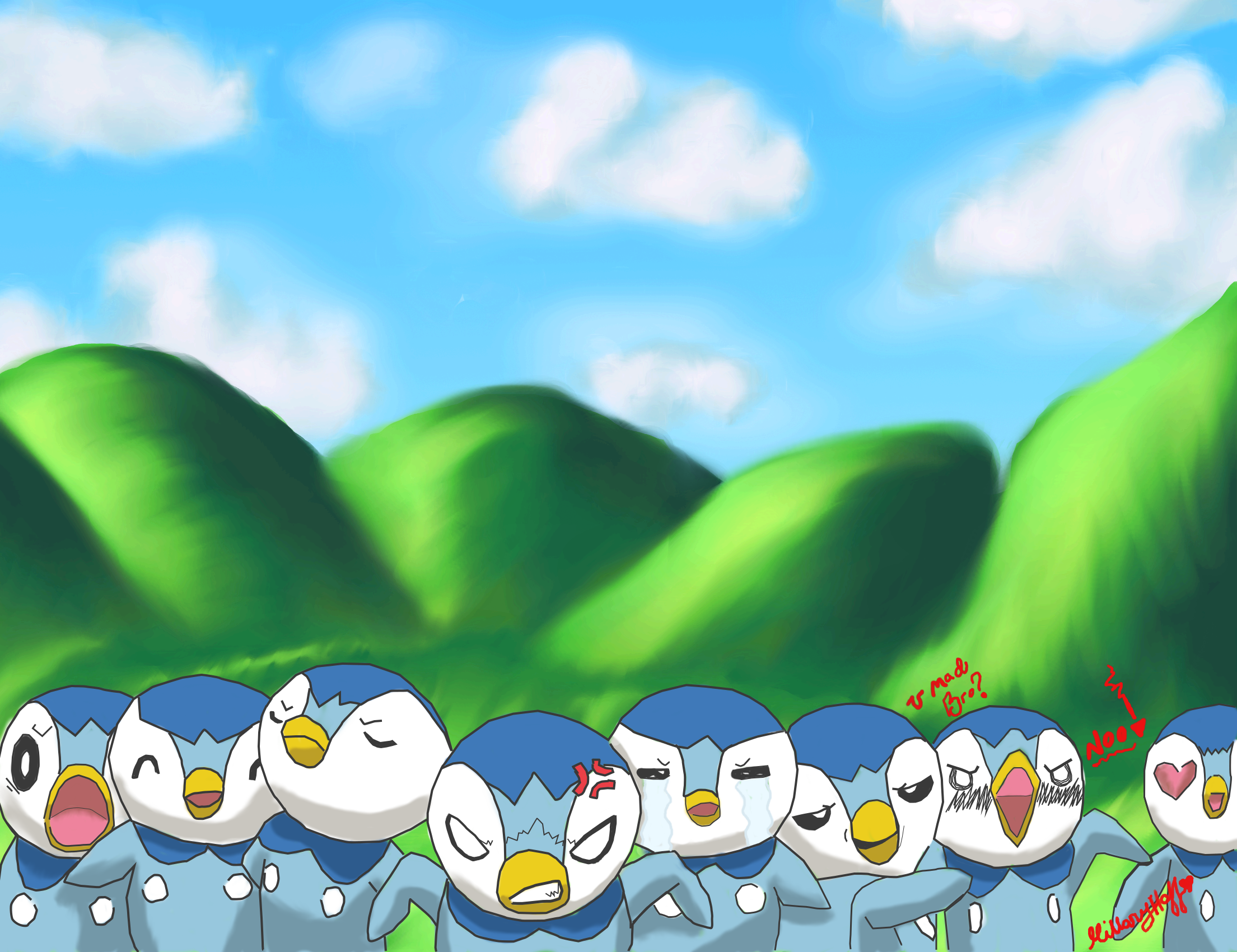 The many faces of Piplup