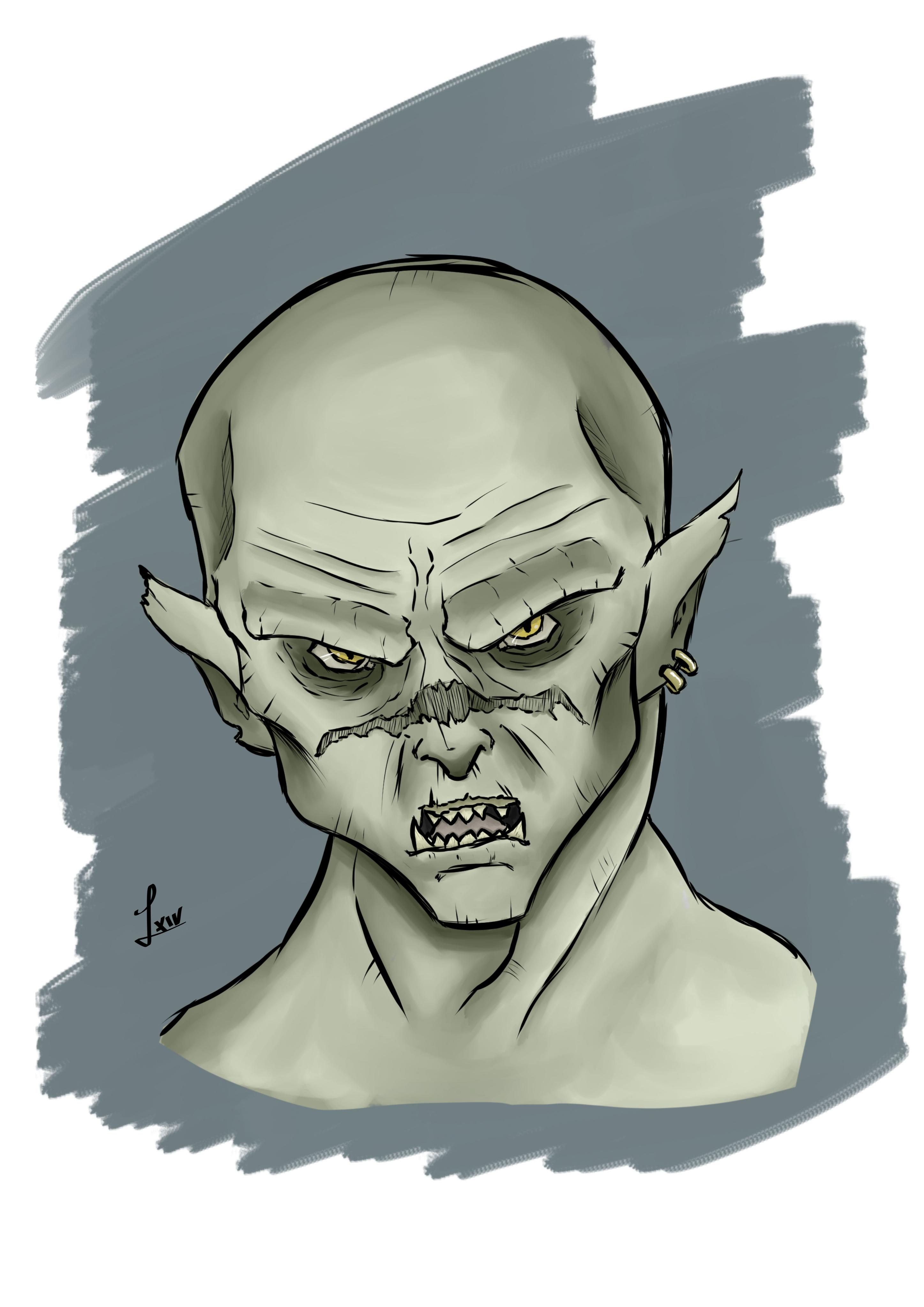 Concept Art - Orc Head Color