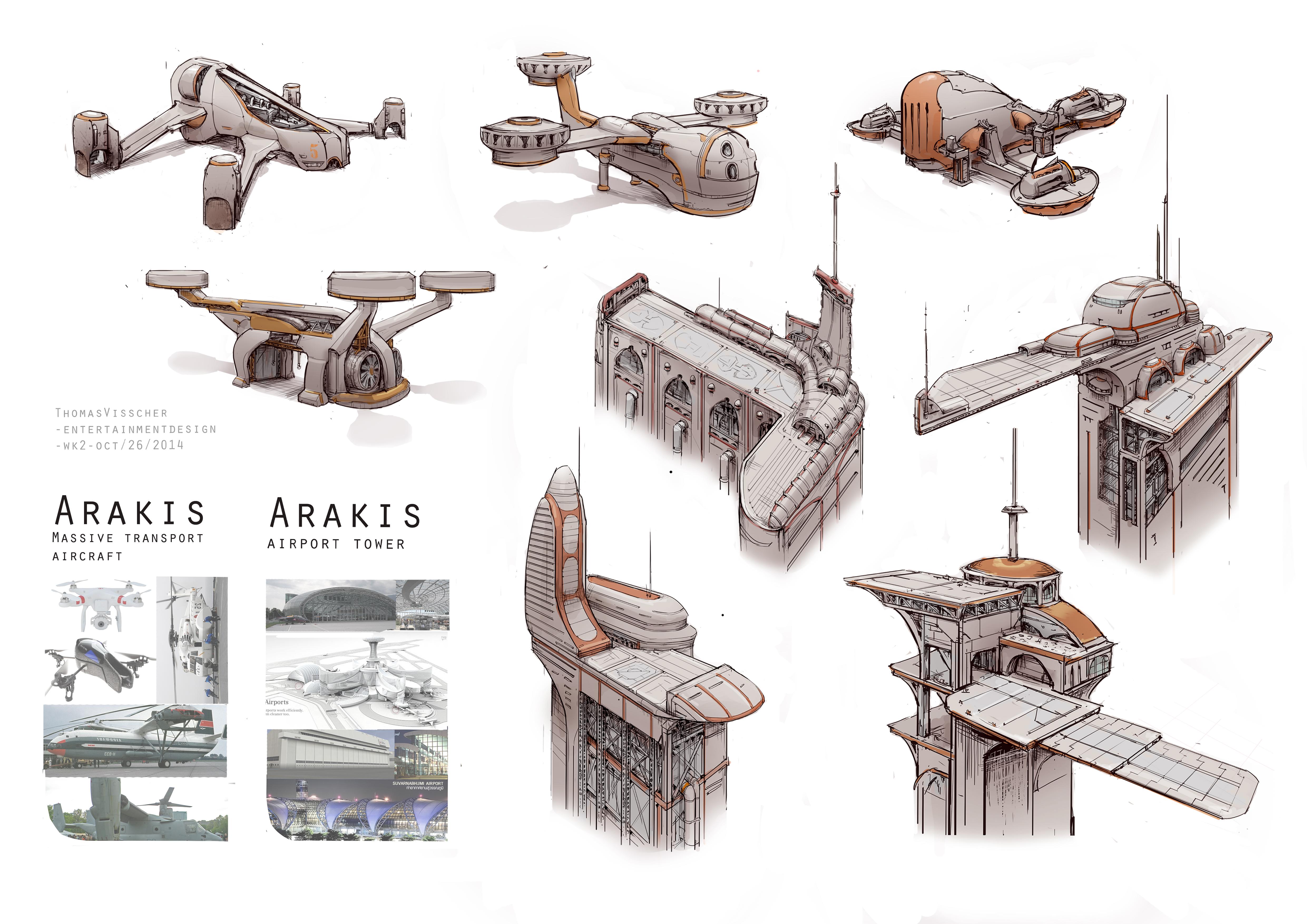 Arakis city sketches