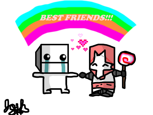 Hatty and Pink Knight FRIENDS!