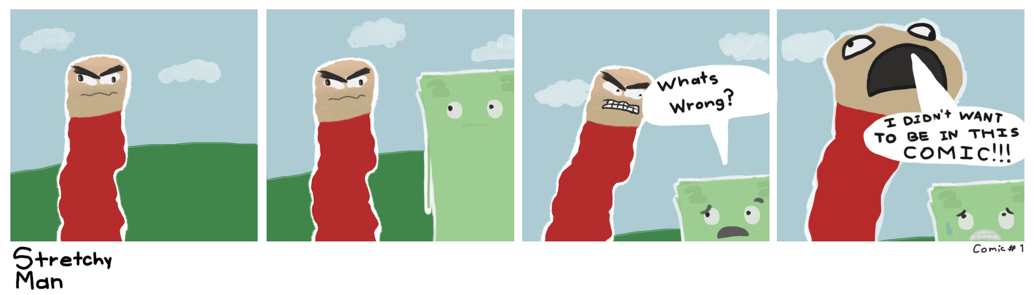 Stretchy Man Comic #1