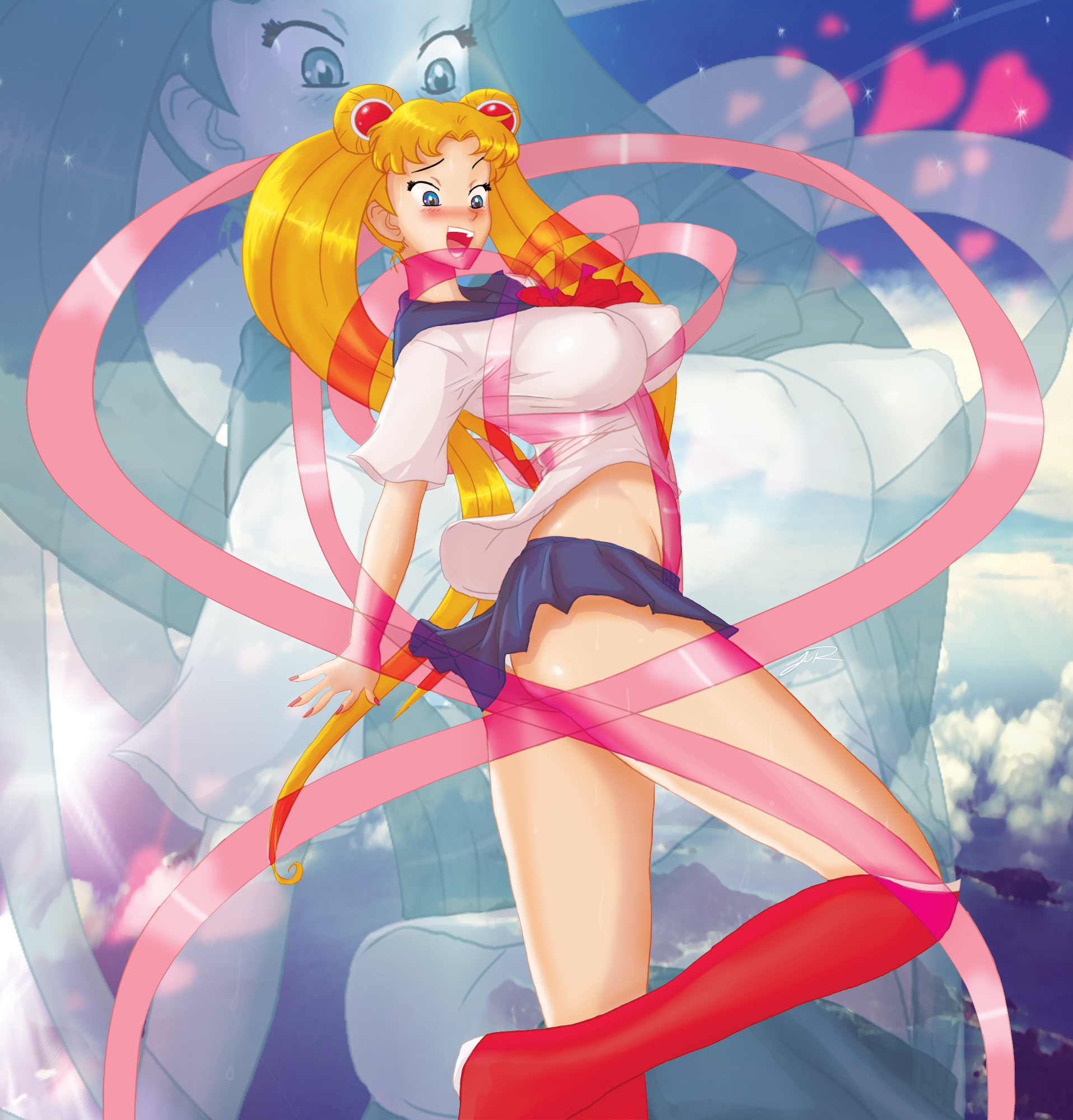 Sailormoon transform blooper