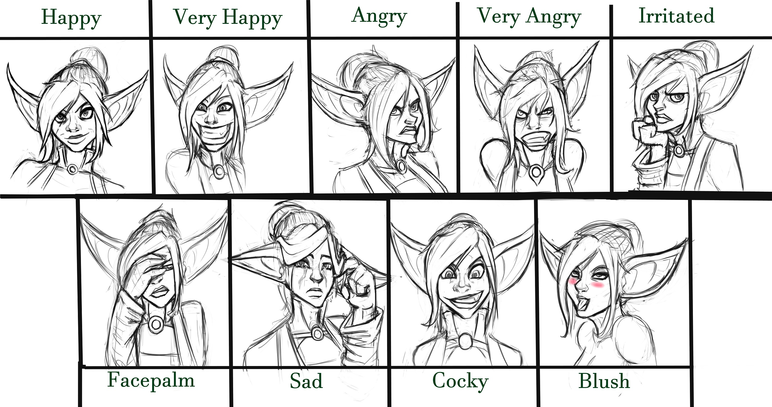 Booksy expression sheet