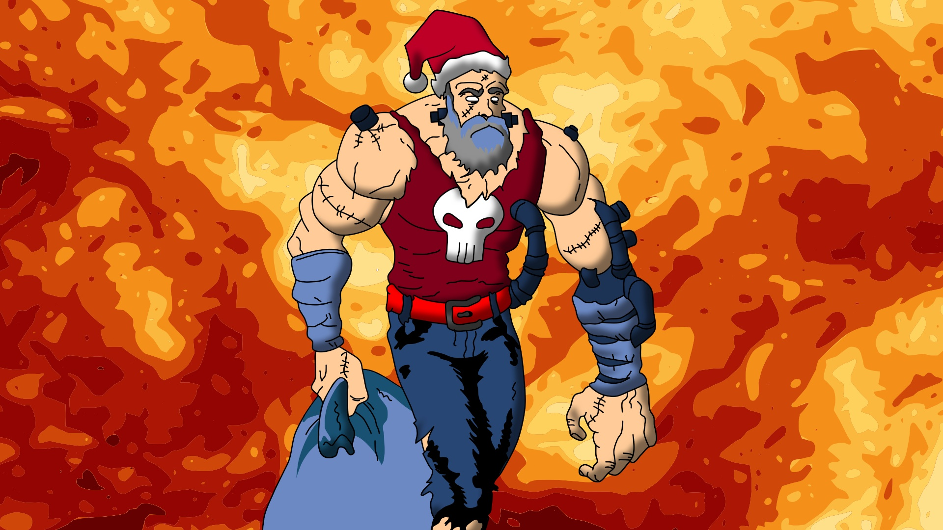 Cyborg Santa!