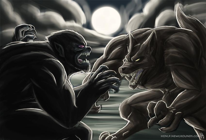Wolfman vs. Werewolf by henlp on Newgrounds