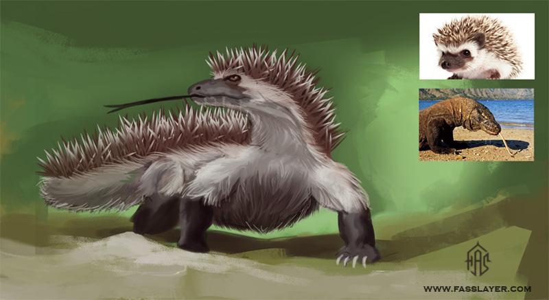 hedgehog/komodo dragon