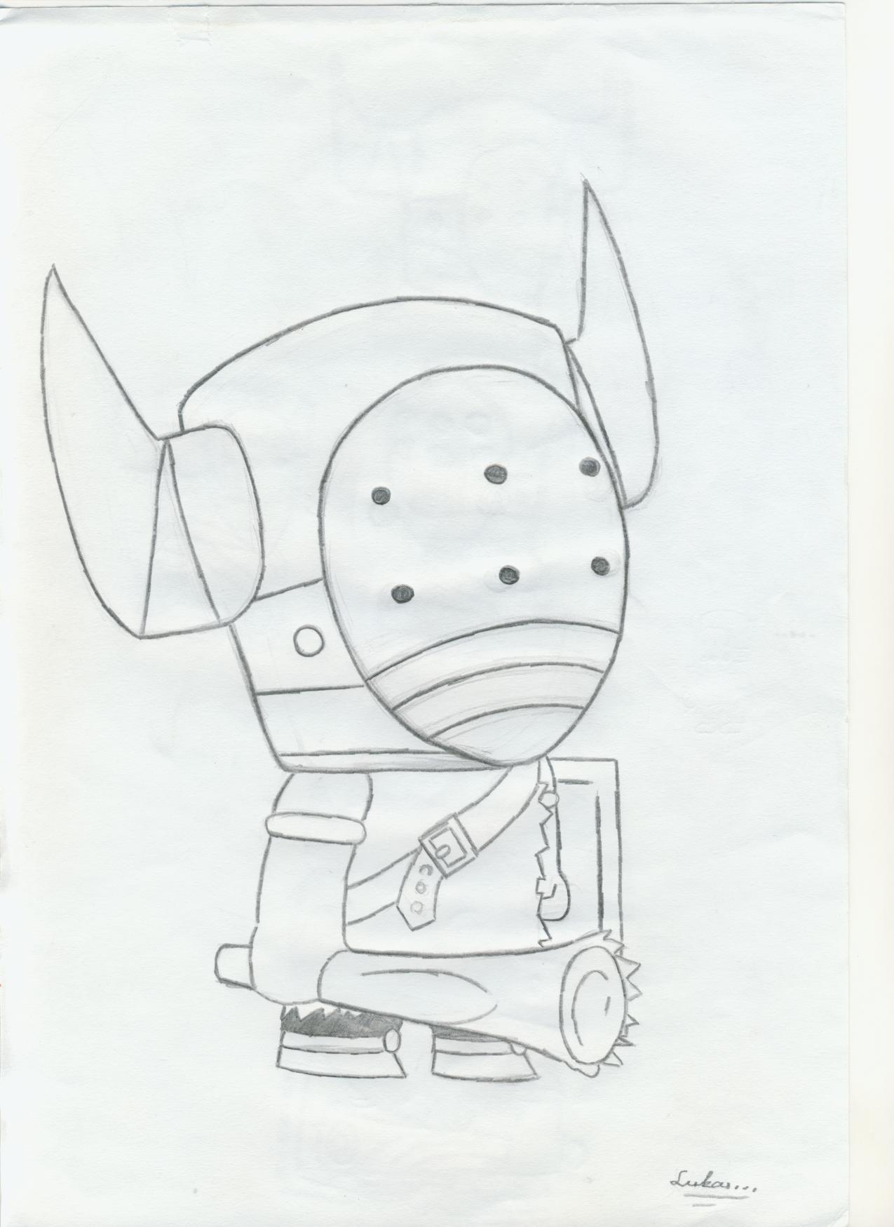 Sketched Barbarian