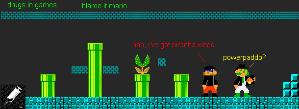 blame it mario! drugs!