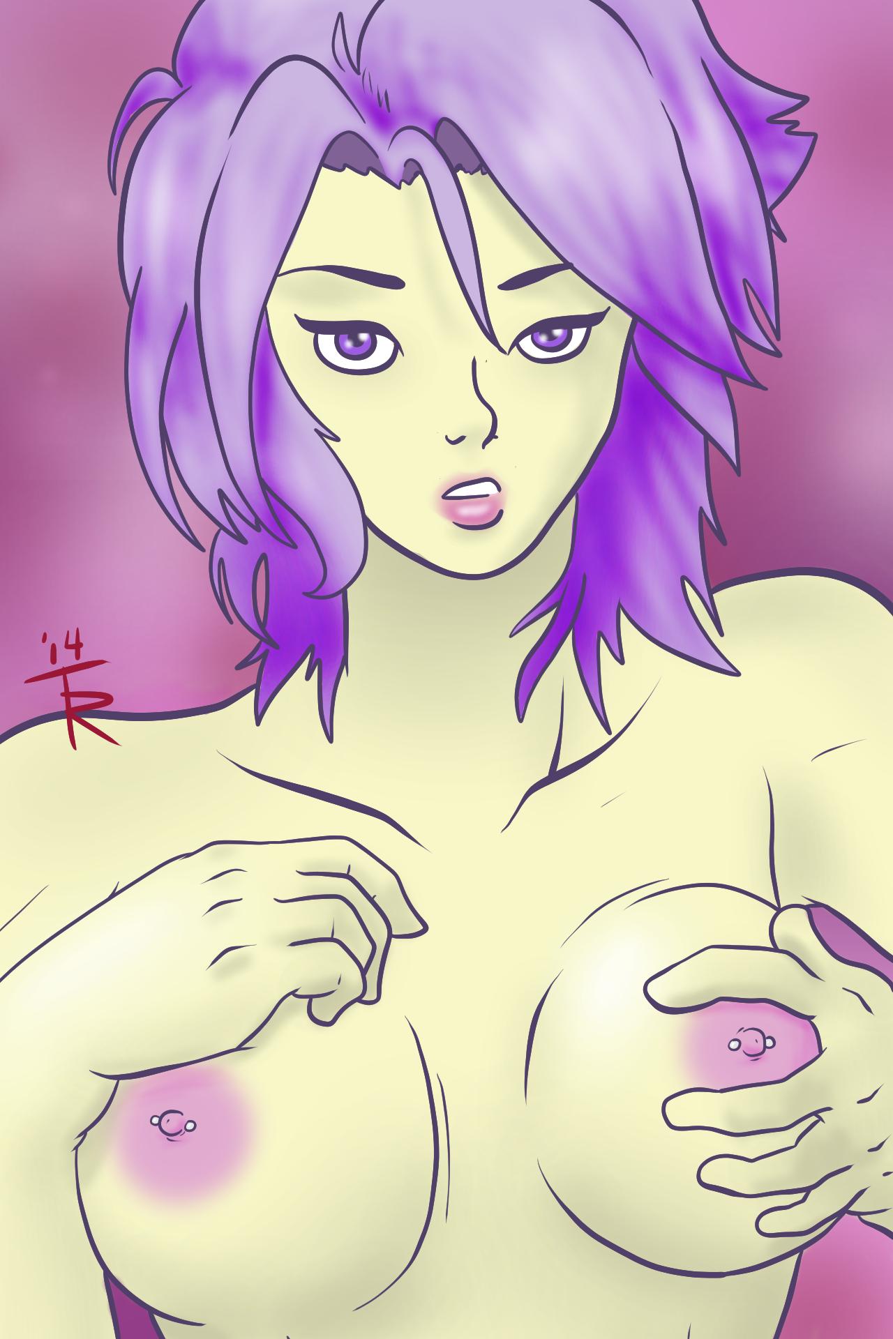 Purple Pinup 2 [NSFW]