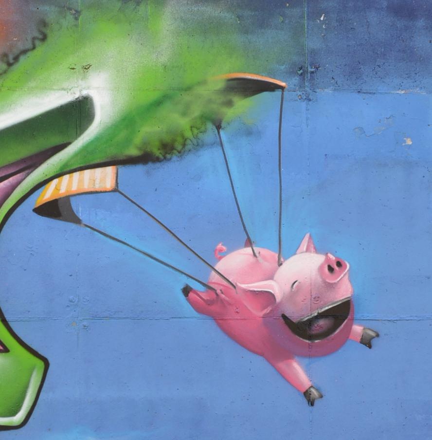 flyingpig graffiti