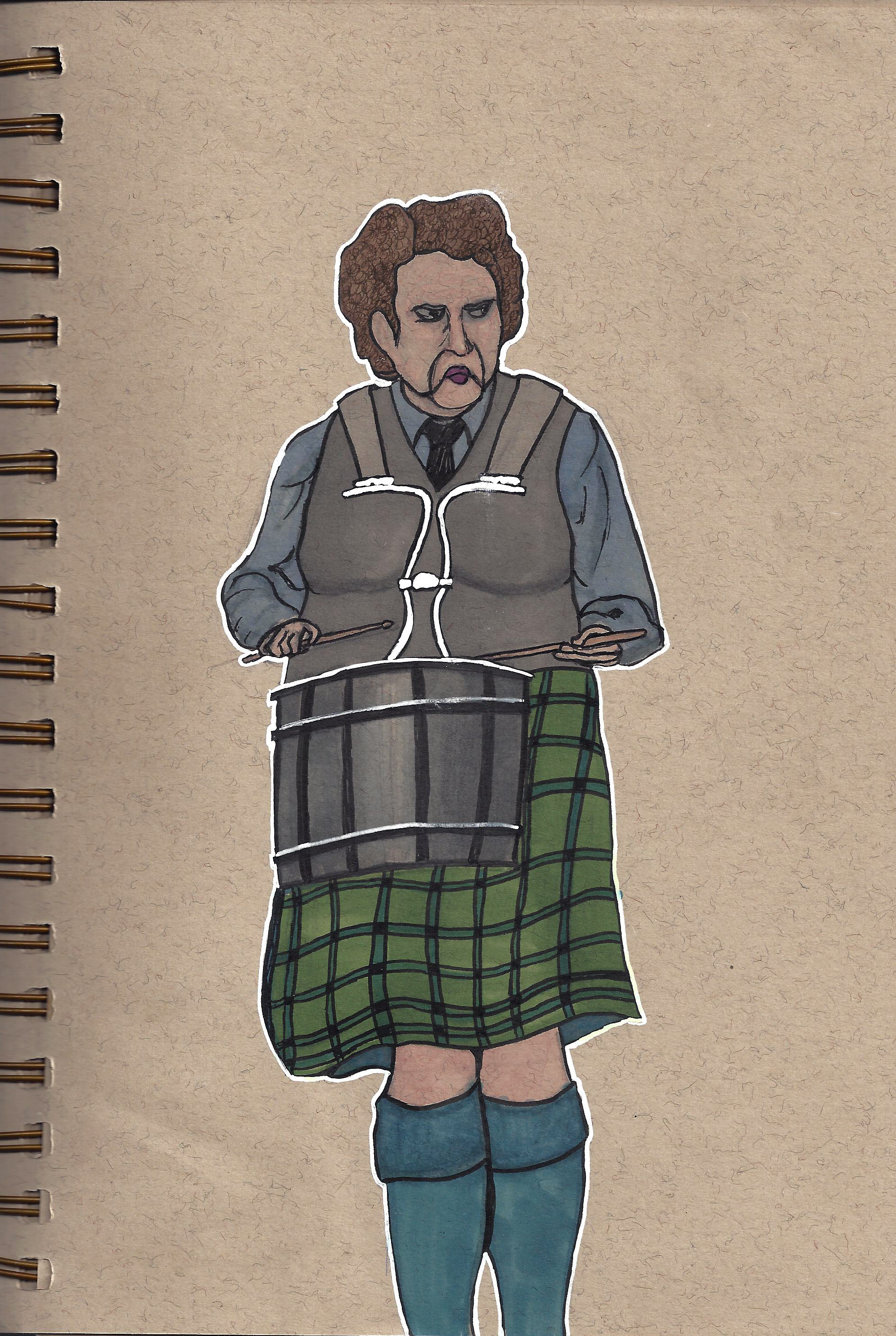 Angry Celtic Drummer