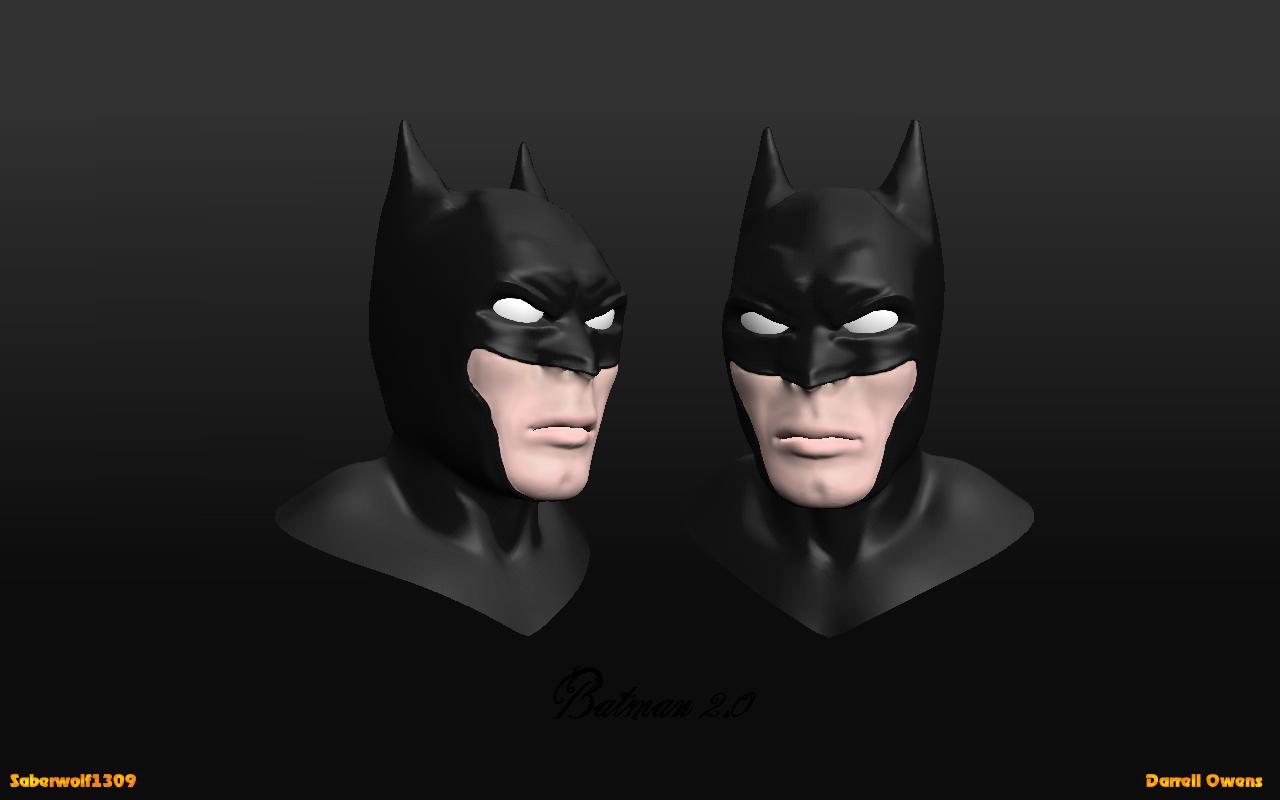 Batman 3d head