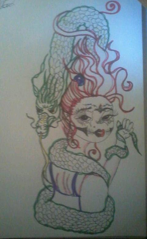 Dragon skull lady