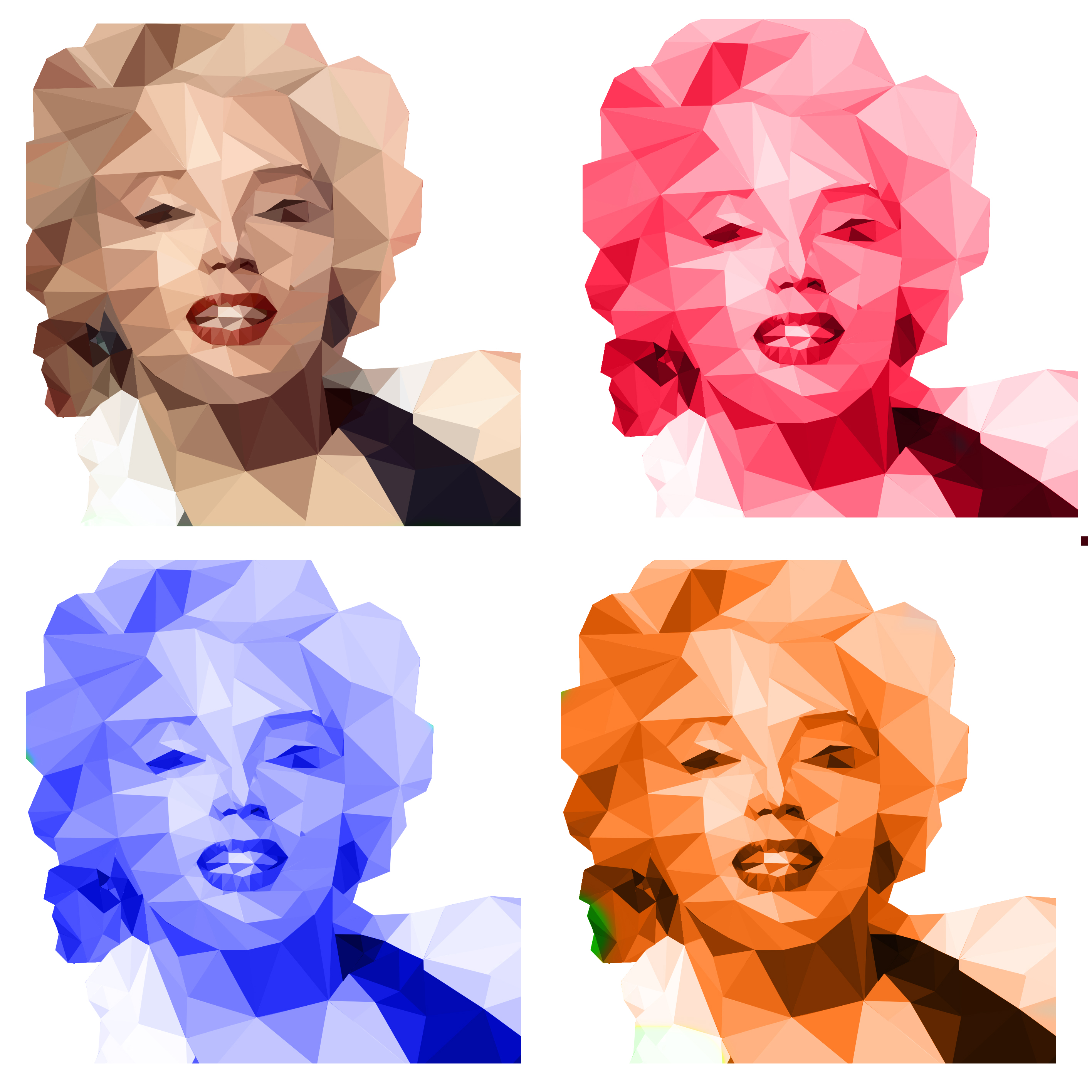 Marilyn Low Poly