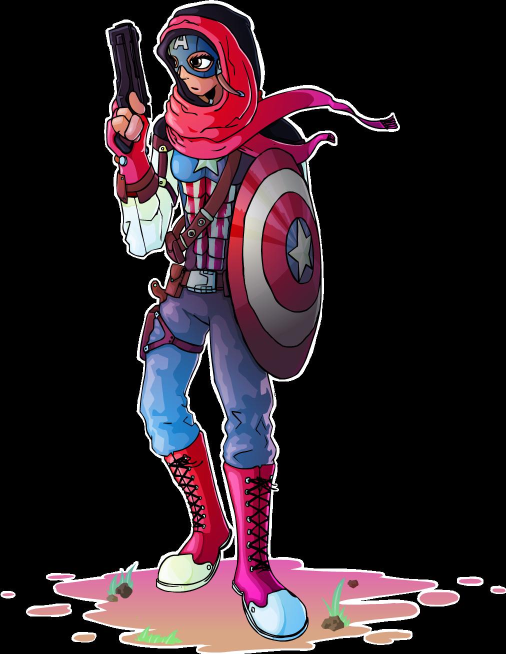 Amovible as Captain America