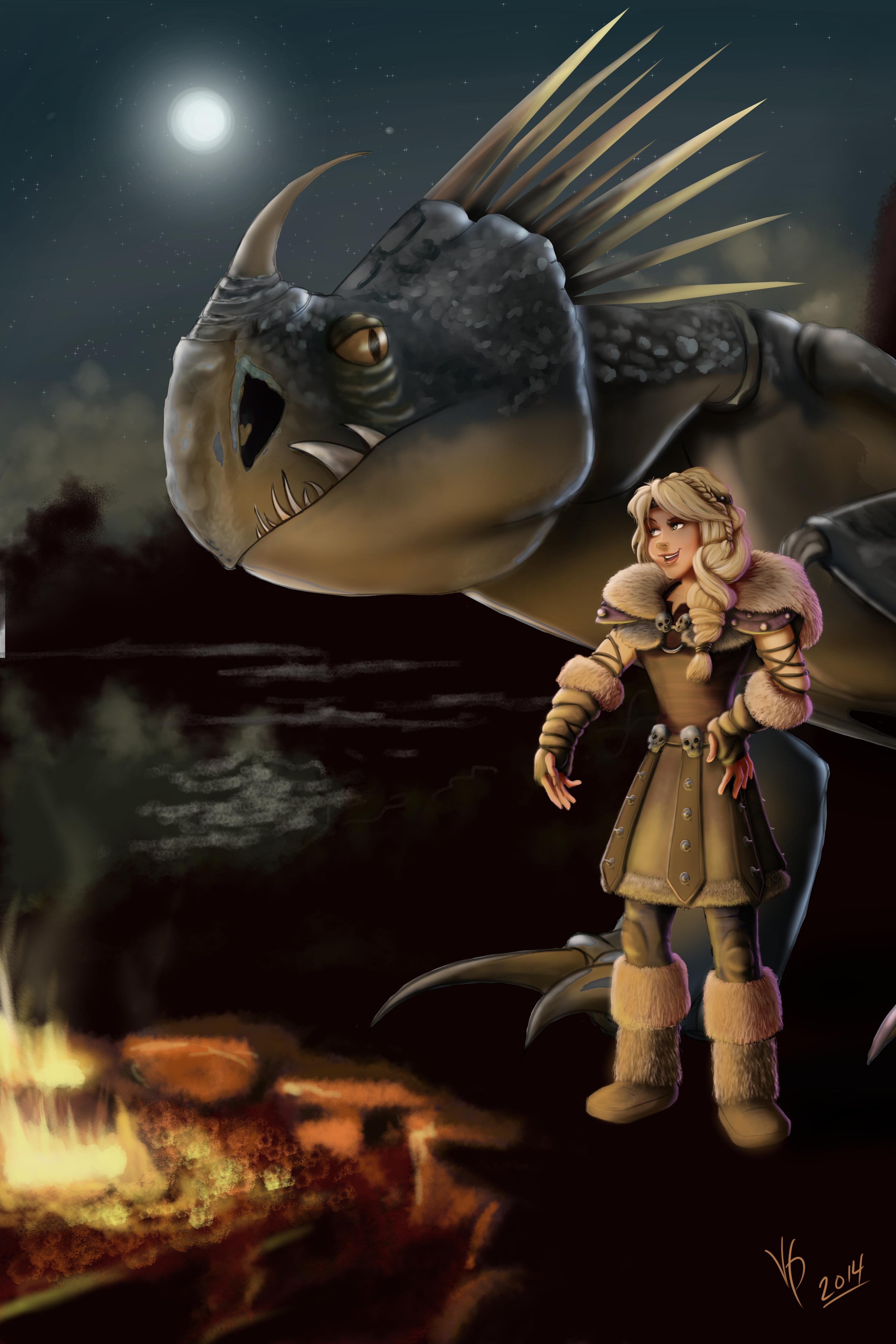 Astrid and Stormfly FanArt