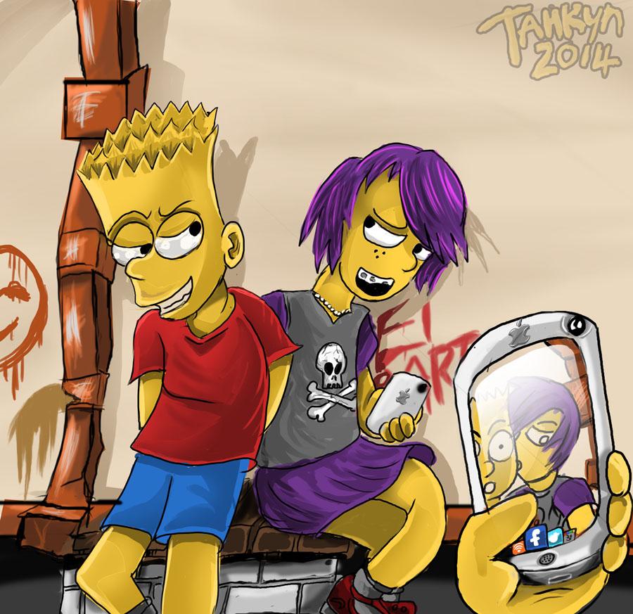 Bart Simpson and Kaytee (OC)