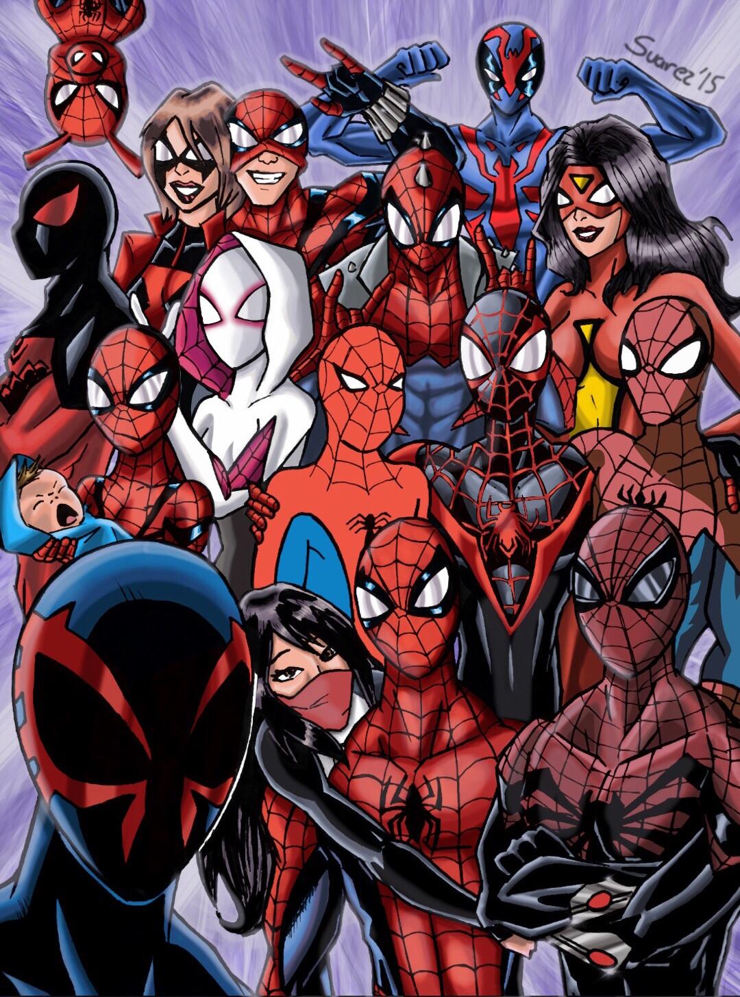 The spider-verse selfie!