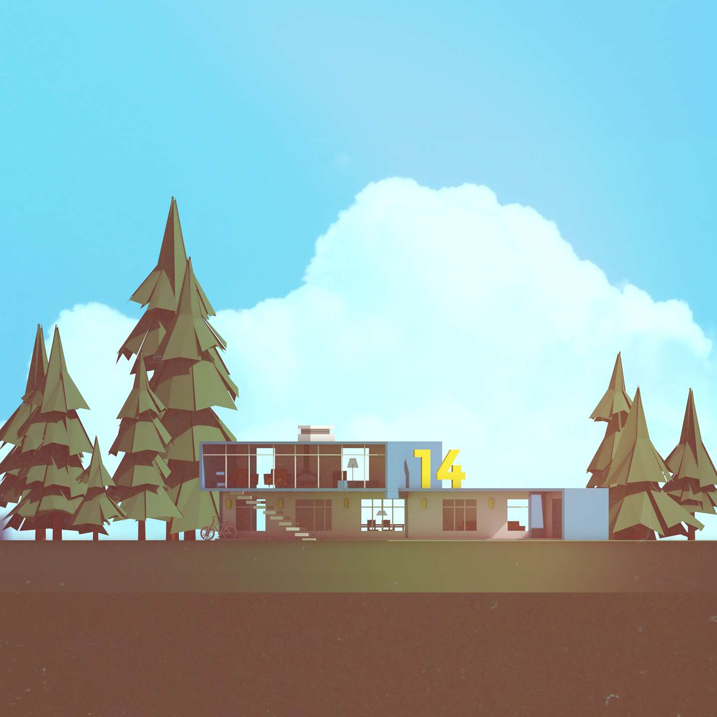 Low Poly Modern Home