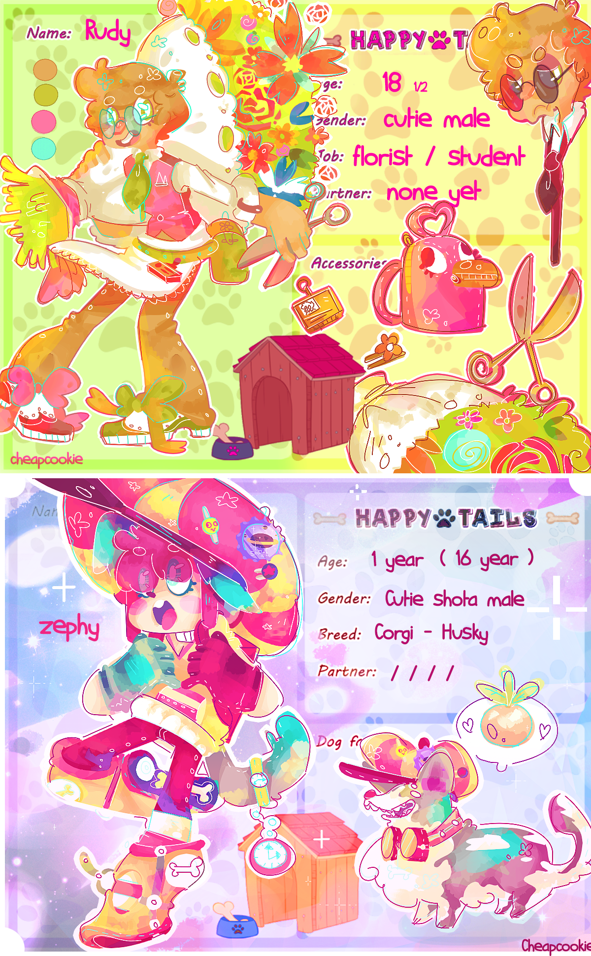 Happy-tails 's characters