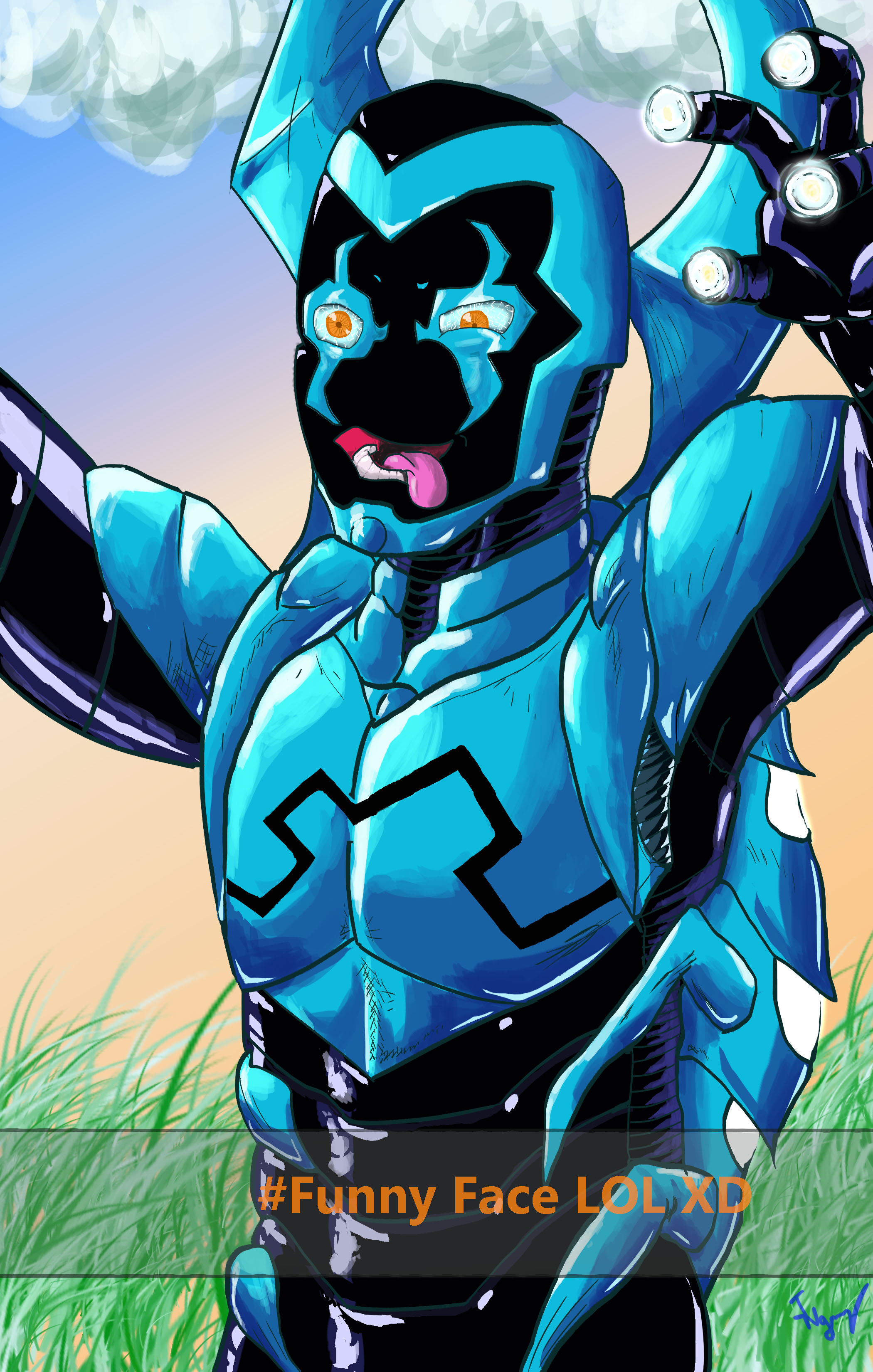 Blue Beetle's Superhero Selfie