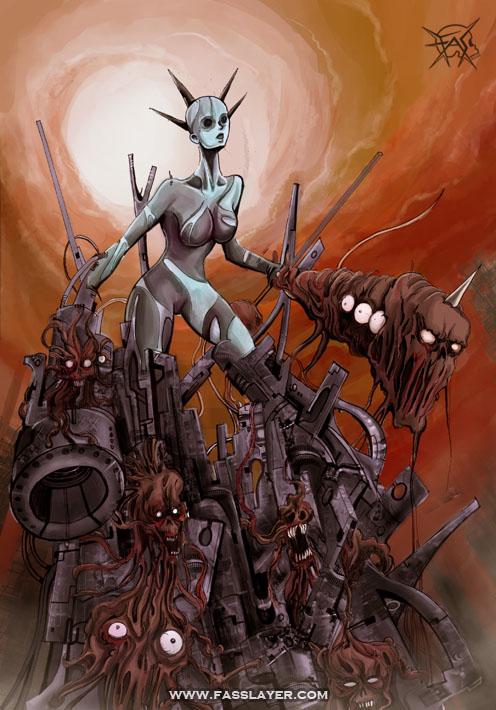 Machine monster lady
